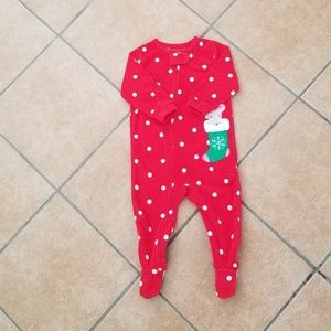 Little Girls Footed Onesie